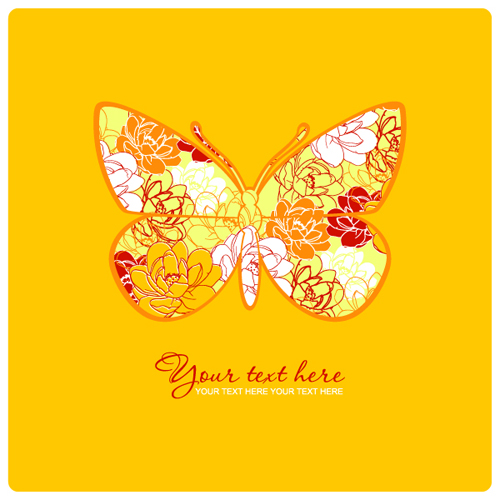 Colorful Abstract butterfly elements vector 05