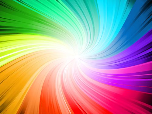 Rainbow Swirls Background Vector
