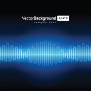 Link toVarious audio wave light vector backgrounds set 01