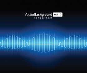 Various Audio wave light vector backgrounds set 01