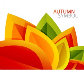 Set of charm Autumn  backgrounds vector 01