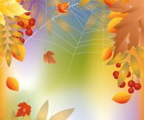 Shiny autumn vector background art 01