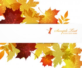 Autumn Beautiful leaves theme background vector 01