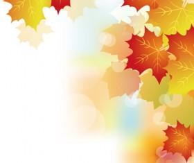 Autumn Beautiful leaves theme background vector 02