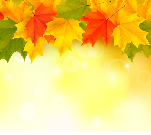 shiny autumn vector background art 03 - vector background free, Modern powerpoint