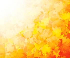 Shiny autumn vector background art 04
