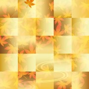 Link toAutumn beautiful leaves theme background vector 04