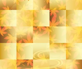 Autumn Beautiful leaves theme background vector 04