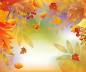 Shiny autumn vector background art 05