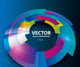 Dynamic 3D Abstract background vector set 01