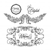 Link toFine ornaments lace and borders vector graphic 05