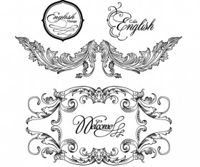 Fine Ornaments lace and Borders vector graphic 05