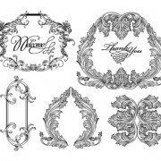 Link toFine ornaments lace and borders vector graphic 06