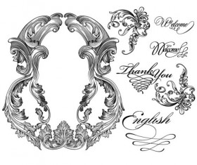 Fine Ornaments lace and Borders vector graphic 07