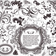 Link toRetro decorative ornaments frames and borders vector 04