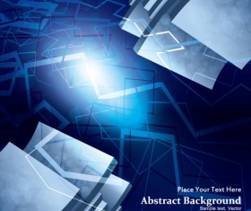 Dynamic 3D Abstract background vector set 05