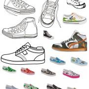 Link toDifferent canvas shoes elements vector