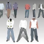 Link toMen's clothing design elements vector set