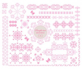 Fine Ornaments lace and Borders vector graphic 03