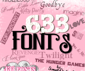 633 kind font Collection