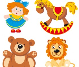 Different Baby Toys mix vector set 02