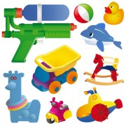 Link toDifferent baby toys mix vector set 04