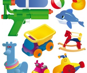 Different Baby Toys mix vector set 04