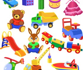 Different Baby Toys mix vector set 05