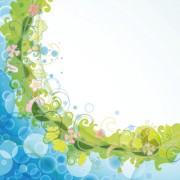 Link toAbstract background with flowers elements vector 01