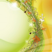 Link toAbstract background with flowers elements vector 02