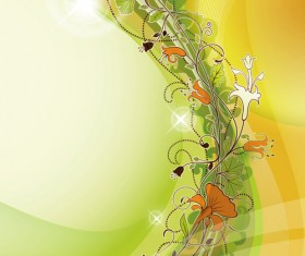Abstract Background with flowers elements vector 02