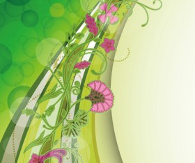 Abstract Background with flowers elements vector 03