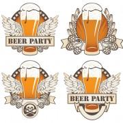 Link toRetro beer party mark design vector 04