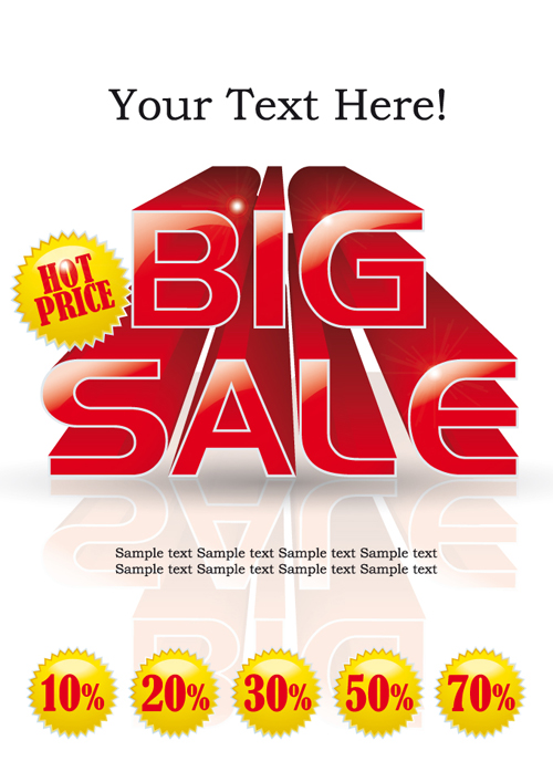 Cover of Big Sale publicize page vector 03 - Vector Cover free ...