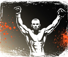 Set of Boxing design elements vector 01