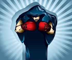 Set of Boxing design elements vector 03