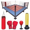 Set of Boxing design elements vector 04