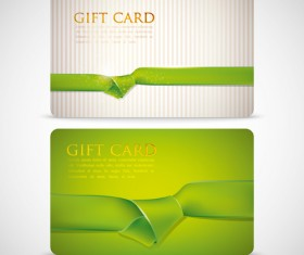 Ribbons knot card vector 02