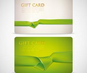 Ribbons knot card vector 02