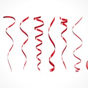 Link toSet of red christmas ribbons elements vector 02
