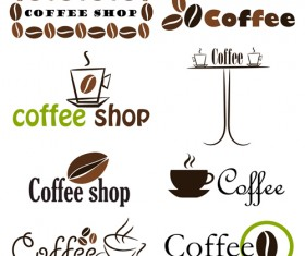 Set of Coffee logo design elements mix vector 01