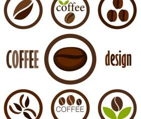 Set of Coffee logo design elements mix vector 02