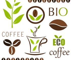 Set of Coffee logo design elements mix vector 03