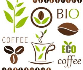 Set of Coffee logo design elements mix vector 03