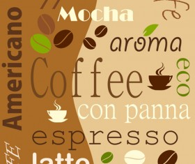 Set of Coffee logo design elements mix vector 05