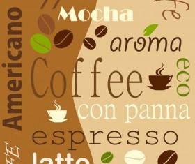Set of Coffee logo design elements mix vector 05