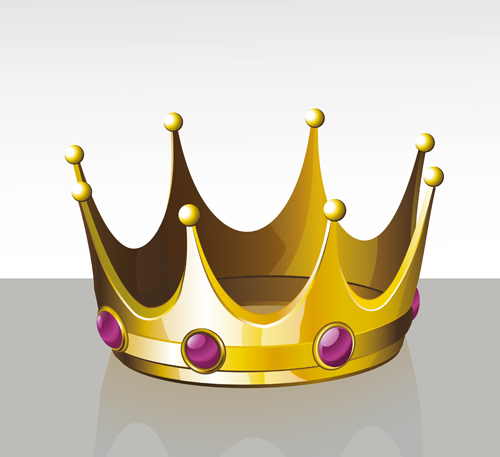Noble of Crown design vector set 01
