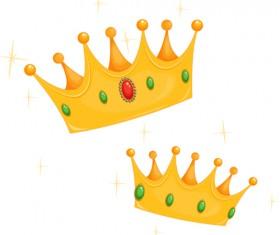 Noble of Crown design vector set 02
