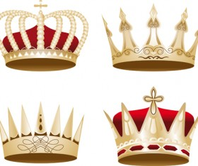 Noble of Crown design vector set 03