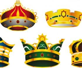 Noble of Crown design vector set 05